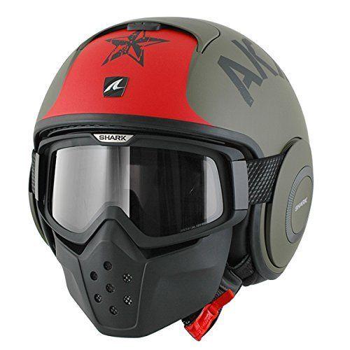 shark raw 3/4 helmet
